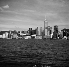 A Touristy Shot (Functionary) Tags: hongkong harbour victoria 香港 ilford voigtländer perkeo colorskopar 維多利亞港 colorsix bwfp