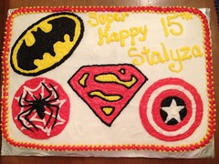 Super Heroes Cake, Triad Area, NC, www.birthdaycakes4free.com