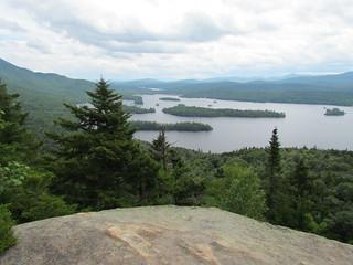 Blue lake in the Adirondacks