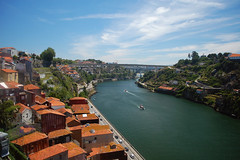Looking east (Laura.1606) Tags: city travel summer urban holiday portugal water june river europe cityscape rooftops porto douro 2013
