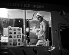 Super soft ice cream (big andrei) Tags: leica bw man ice car cream noctilux monochrom 50mm10