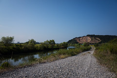 R0000788-1 (oncoinco0920) Tags: blue sky white mountain tree japan river landscape 28mm toad gr tokushima ricoh f63