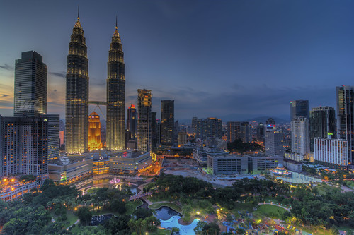 Last Light Of The Day | Petronas Twin Towers | Blue Hour