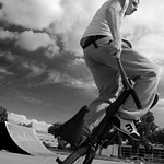 Matti Hemmings riding flatland at LSP, Llanishen Skatepark, Cardiff