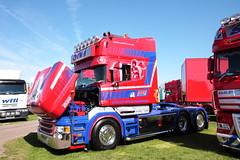 Stuart Nicol Transport Scania T580 truck N111 COL Truckfest Peterborough 2013 (davidseall) Tags: uk tractor truck t cab transport large stuart goods lorry vehicle heavy col peterborough cambridgeshire scania unit nicol truckfest hgv lgv 2013 tcab bonnetted n111 t580 n111col