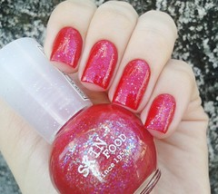 Santa Gula + Seaweed Party ( Letcia C.) Tags: glitter vermelho unhas esmalte skinfood flocado