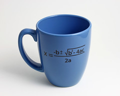 Quadratic Formula Coffee Mug (lltownley) Tags: blue school art nerd cup coffee ceramics geek coffeecup science numbers math mug formula equation pottery mathematics coffeemug etsy algebra quadraticequation blackandblue quadratic quadraticformula lltownleyceramic lisatownley lltownley