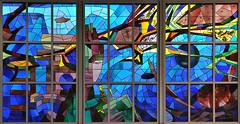 Vitrail du grand Hall de l'école Polytechnique (Hélène Quintaine) Tags: france hall vitrail iledefrance couleur verre palaiseau écolepolytechnique saintgobain