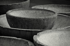 Sitting Empty 1 (JeffStewartPhotos) Tags: blackandwhite bw toronto ontario canada abandoned broken concrete blackwhite planters cityhall empty cement toned cracked nathanphillipssquare unused wellused