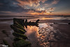 Sunrise At Seaton (Dave Brightwell) Tags: sky seascape sunrise canon reflections photography cleveland shipwreck hitech seatoncarew bwnd davebrightwell