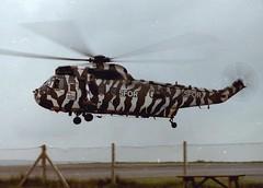 ZA297 (goweravig) Tags: uk swansea wales airport aircraft helicopter visiting commando sfor seaking westlandseaking 845nas swanseaairport za297 codedyc