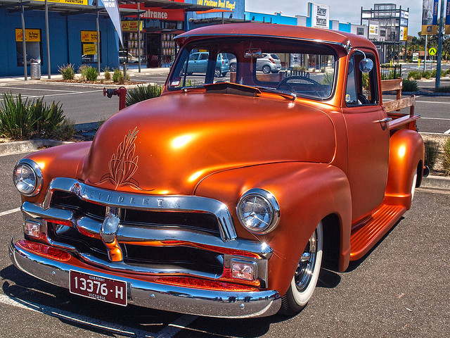 chevrolet pickup 1954 chevy lowered slammed pinstriped 54chevy 1954chevroletpickup