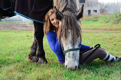 246 (IamJudyZ) Tags: blue portrait horses horse white green eye love nature girl grass animal animals hair grey nikon friend europe hungary head budapest riding nikkor stable 18200 mane horseriding 18200mm f3556 d7000