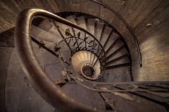 Snake (klickertrigger) Tags: urban abandoned stairs gold golden snake decay steps staircase exploration circular schlange ue verlassen stufen urbex treppenhaus verfall wendeltreppe