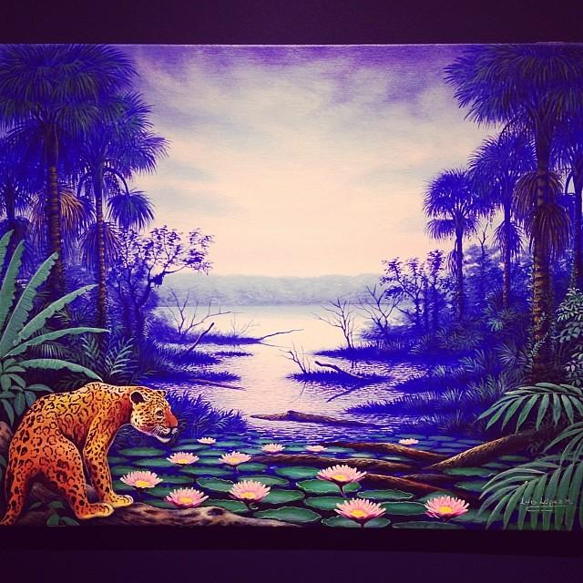 """Luis Lólez """"Usko Ayar"""" • """"La escuela de las Visiones"""" #art #arteenlima #artinlima #arte #artist #artista #painting #pintura"""