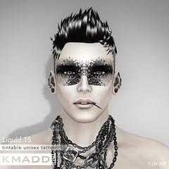 KMADD Tattoo ~ Liquid 15 (www.kmaddmoda.com) Tags: tattoo avatars secondlife facialtattoo maddoxdupont kmadd kmaddtattoo kmaddtats kmaddmoda