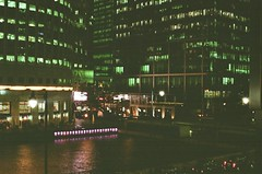 (Ben Emrich) Tags: city urban london film water 35mm canarywharf olympusom10