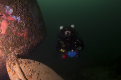 Kev Podsnap Rudder (Dacmirc) Tags: uk water underwater under scuba diving quarry rebreather capernwray ukdiving