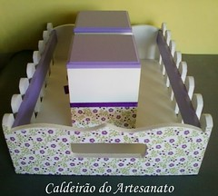conj. cesta + 2 potes em mdf (Caldeirão do Artesanato) Tags: artesanato caixa em madeira mdf portatreco decoupagem artesanatoemmdf caixamultiuso decoupagemcomguardanapo artesanatocomdecoupagem