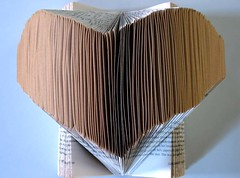 Altered book: Heart (Isabell Buenz) Tags: paper paperart book scotland bookart alteredbooks bookpages buenz isabellbuenz bookweekscotland