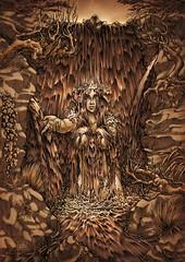 Nayade (phrenan) Tags: sepia waterfall ancient spirit nymph antiguo cascada ninfa mithology espiritu mitologia griega nayad mitilogia nayade greekmithology nynph phrenan mitologiagriega