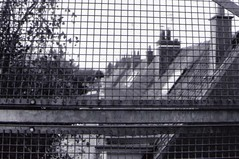 GRILLAGE (LA PEUR DU VIDE) Tags: roof france film architecture analog 35mm fence landscape noir analogue lille toit coron blanc nord argentique grillage marcq baroeul continuedecreuser lapeurduvide