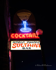 Nighttime Shot of Sultana Bar Sign on Route 66 in Williams, Arizona (eoscatchlight) Tags: nightphotography arizona bar route66 neon williams nighttime neonsign cocktails roadsideamerica afterdark sultanabar drinkingestablishment