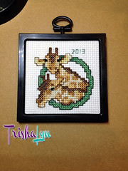RussyGiraffeOrnament03 (TrishaLyn) Tags: california crossstitch crafts ornaments giraffes sanleandro