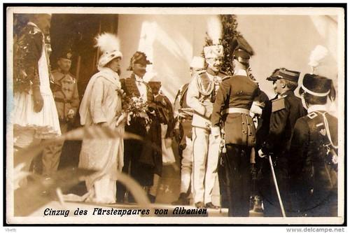 Δυρράχιο Дуррес Durrës Durazzo. Mbërritje e princit zu Wied, mbreti i shqiptarëve, 7 mars 1914. Einzung des Fürstenpaares von Albanien. Arrival of Prince William of Wied, king of the Albanians, March 7th 1914.