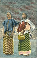 Mexican Women Postcard (Teyacapan) Tags: mexico women gente postcard mexican textiles mujeres indigenas mazahua tarjetapostal otomi