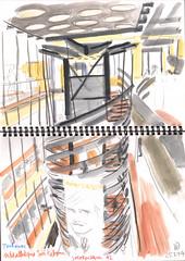 140125 sketchcrawl #42 (Vincent Desplanche) Tags: urban watercolor sketch aquarelle toulouse sketchcrawl croquis colorpencils