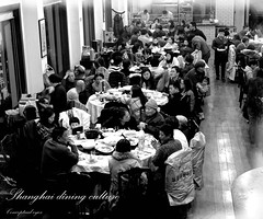 Dining Culture in Shanghai (rolandrain) Tags: china people blackandwhite bw dinner restaurant shanghai chinese culture cybershot dining society shanghaiist socialdocumentary shanghainese conceptualeyes
