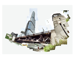 Chicago River Panorama (UlisesBedia) Tags: panorama chicago landscape downtown trumptower trump panoram panograph panographic ulisesbedia