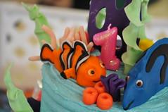 Nemo, Dory & Coral Cake Toppers (rikkitikitavi) Tags: cake coral seashells dessert shark nemo handmade chocolate sealife disney cupcake vanilla squirt reef dory findingnemo milkchocolate fondant buttercream frenchvanilla brucetheshark handsculpted cakeball cakepop