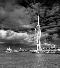 Spinnaker (Mike Ashton) Tags: sea tower port coast boat waves ship harbour hampshire maritime portsmouth spinnaker dockyard gunwharf uploaded:by=flickrmobile flickriosapp:filter=nofilter