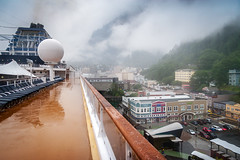 Beautiful small town away from everything (JoLoLog) Tags: cruise usa fog alaska ship canoneos20d juneau cruiseship moshe celebritycentury