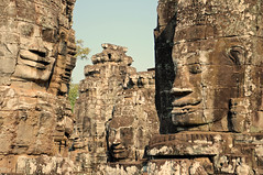 Faces of The Bayon (Oliver J Davis Photography (ollygringo)) Tags: travel heritage history archaeology monument architecture buildings temple construction ancienthistory nikon ruins cambodia southeastasia khmer towers unescoworldheritagesite worldheritagesite civilization siemreap angkor ancientcivilization archeology civilisation worldheritage angkorthom d90 2013 ancientcivilisation mygearandme mygearandmepremium oliverdavisphotography oliverjdavisphotography