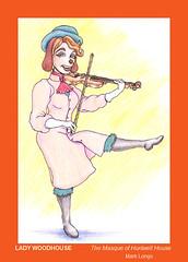 Lady Woodhouse --- Designed and drawn by Mark Longo (Mark Longo Art & Design) Tags: violin fiddle animationart ladywoodhouse marklongoart