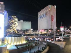 MGM Grand & Tropicana (BuccaneerBoy) Tags: travel newyork paris night fun lights hotel spring desert lasvegas nevada may casino thestrip planethollywood luxor tropicana mgmgrand excalibur mojavedesert