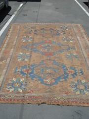 "19TH CENTURY CAUCASIAN SOUMAK CARPET, OXIDIZED. • <a style=""font-size:0.8em;"" href=""http://www.flickr.com/photos/51721355@N02/14413545862/"" target=""_blank"">View on Flickr</a>"