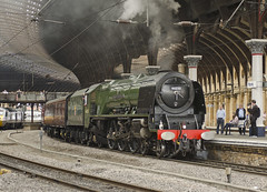 46233 York Station 14-06-14 (prof@worthvalley) Tags: york uk railroad all transport railway steam locomotive sutherland types duchess 46233
