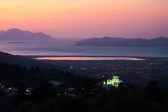 (Maria Galetta) Tags: sunset panorama costa mountain rose landscape greek tramonto kos grecia zia montagna paesaggio