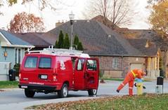 Winterizing Firehydrants (Hear and Their) Tags: winterizing freeze water fire hydrant plug firehydrant fireplug winter