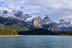 Maligne Lake, I (louelke - home again, will try to catch up) Tags: malignelake jaspernationalpark canada mountains glaciers clouds water mountainranges