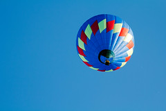 Interrupting Blue (matthewkaz) Tags: sky blue hotairballoon balloon flying floating balloonfest michiganchallenge howell michigan 2016