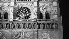 #2 Part of... (Louis Lefranc) Tags: notre dame cathedral church catholic monument paris city night black white iso canon 50 6d gargoyle