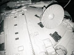 Fastest Hunk of Junk (geekknot) Tags: toy monochrome blackandwhite starwars falcon millenniumfalcon 365