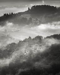San Gimignano, Italy (mike-mojopin) Tags: sangimignano italy blackandwhite mist atmosphere cloud light