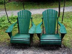 Adirondack chairs in the rain (pilechko) Tags: wilmington ny chairs adirondacks green rain color light