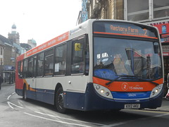 Stagecoach 28634 KX12 AKU (Alex Swanston's Bus Photos) Tags: bus outdoor road vehicle northampton stagecoach stagecoachinnorthampton stagecoachmidlandred enviro300 dennisenviro300 e300 scania route 2 route2branding 28634 kx12aku